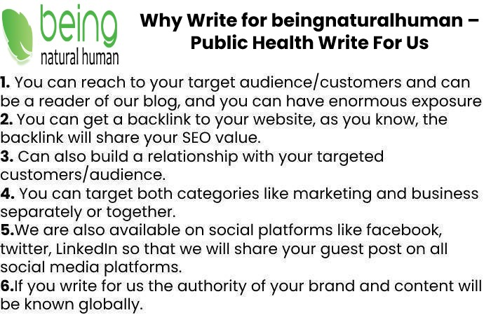Why Write for beingnaturalhuman – Public Health Write For Us